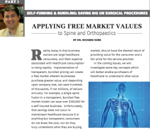 Article by Dr. Richard Kube Featured In Free Market Healthcare Solutions